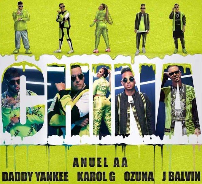 Anuel AA Daddy Yankee Karol G Ozuna J Balvin China 1