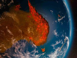 apocalisse australia cielo infuocato visto aereo video