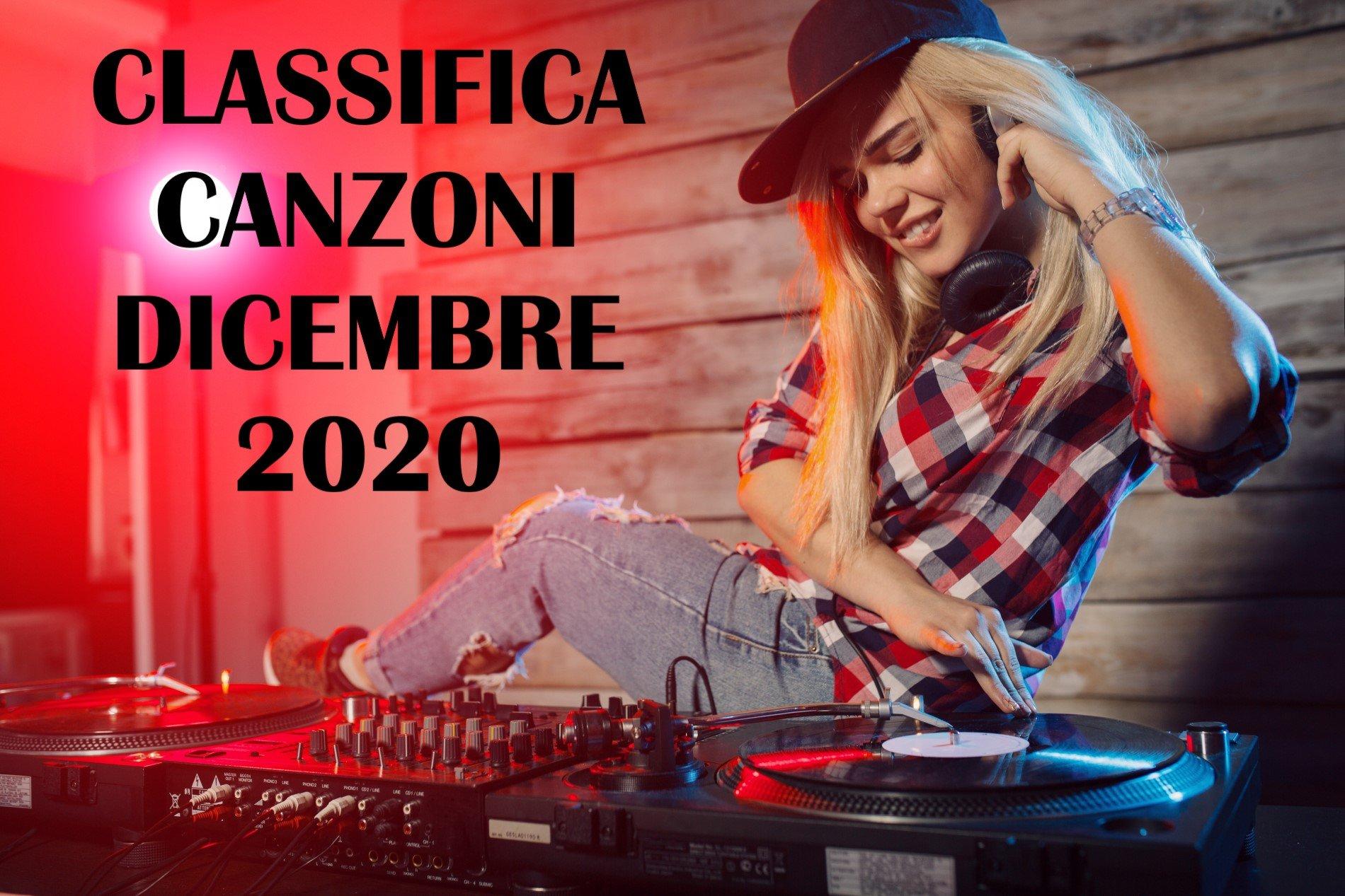 CLASSIFICA CANZONI DICEMBRE 2020