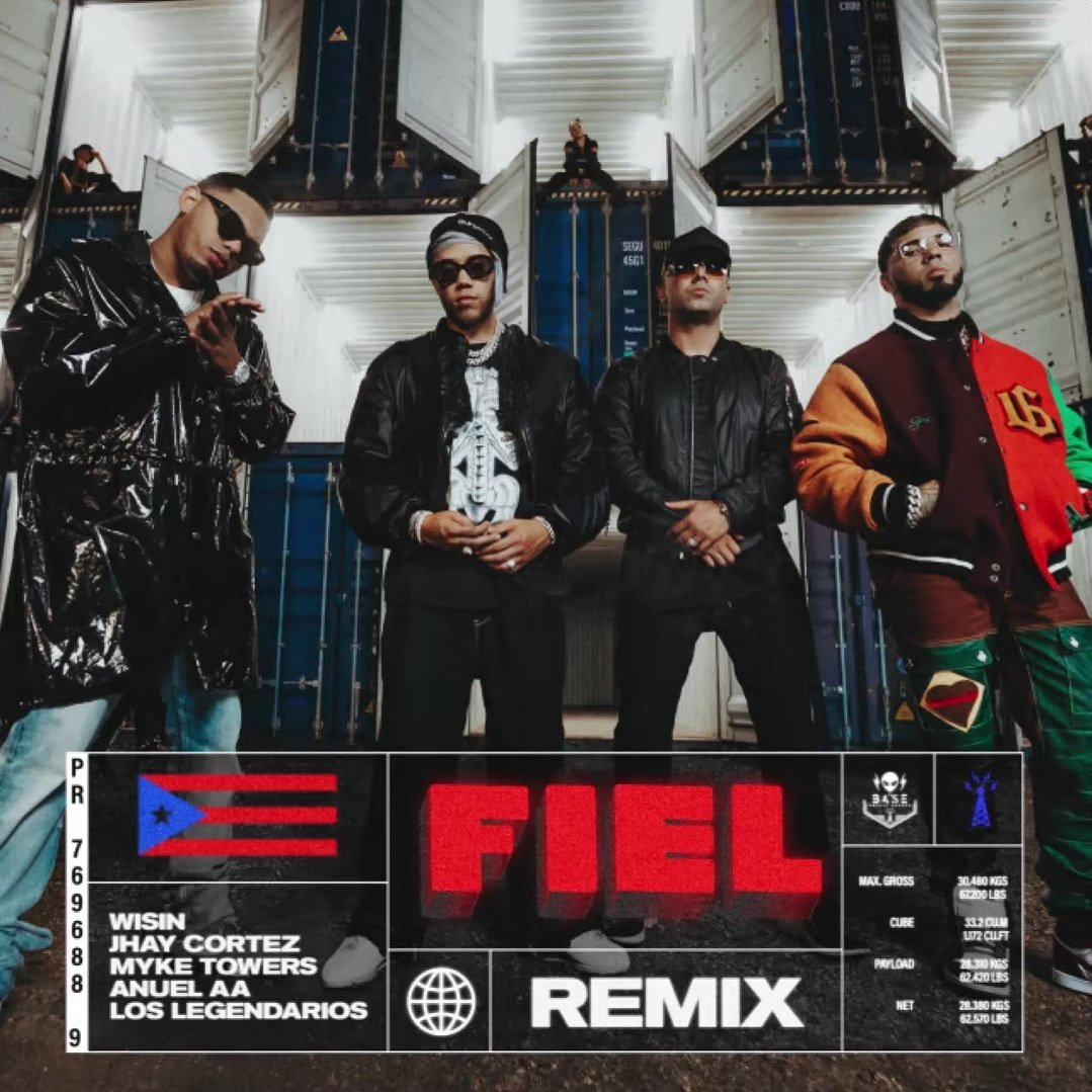 Wisin Jhay Cortez Anuel – Fiel Remix – ft. Myke Towers Los Legendarios