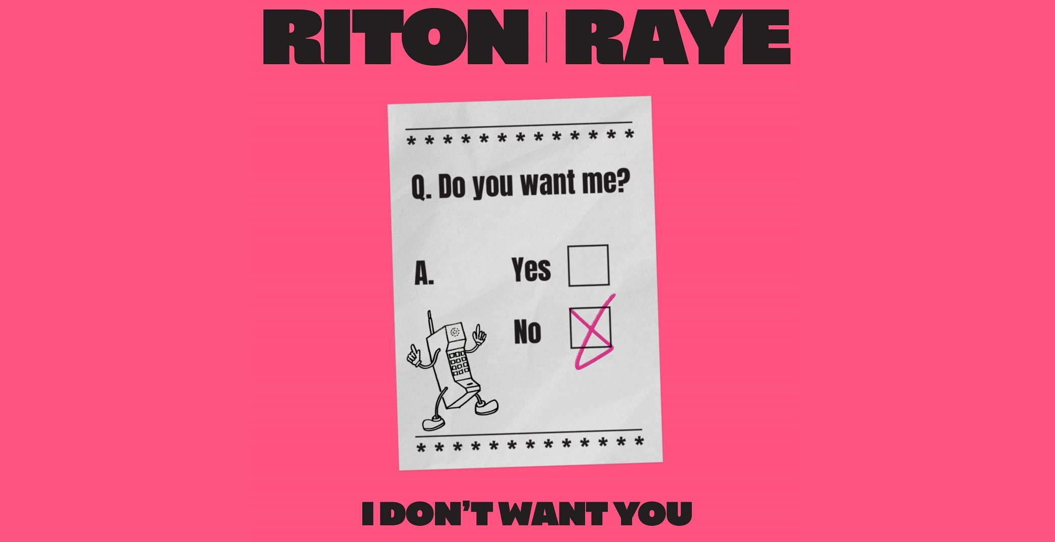 Riton x RAYE I Dont Want You